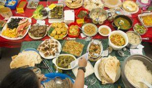 Community Dinner Food Table