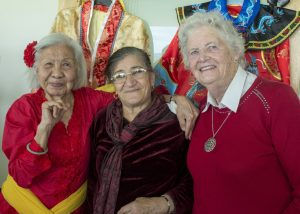 Three women from multicultural backgrounds