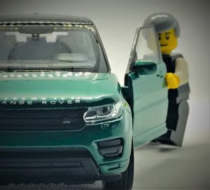 Lego Figure and Car